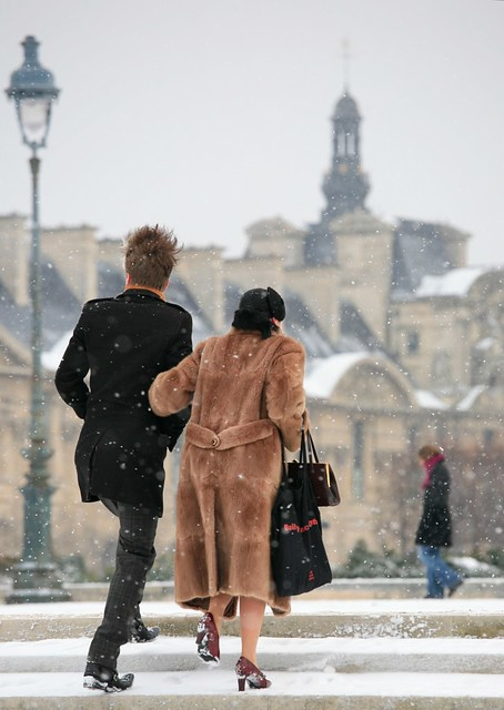 Young Lovers in the Snow