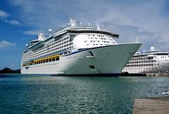 Adventure of the Seas docked at St Johns, Antigua