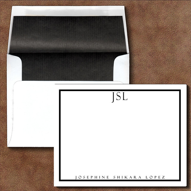 Executive College Stationery Note Cards: Photo