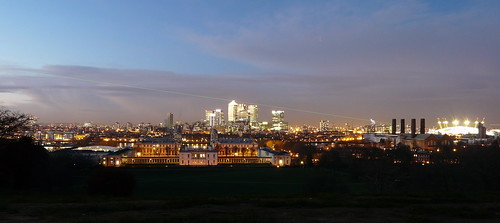 View from Greenwich Park at Night