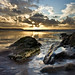 Rock formations at Woolacombe beach by Agata...(exumbra)
