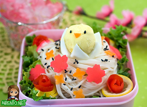 Somen Bird's Nest Bento