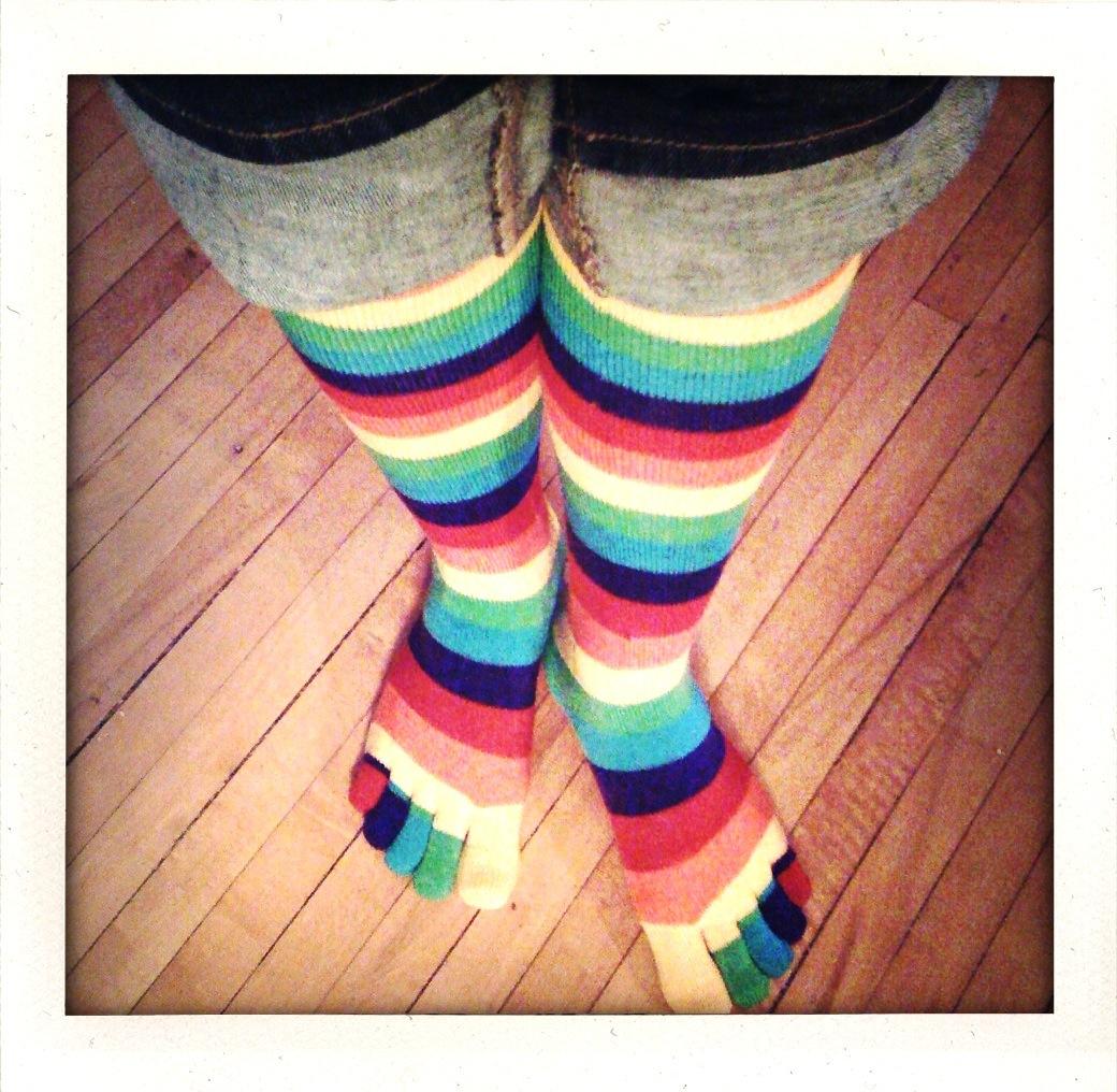 toe socks from Kylene of inkingmythinking.com