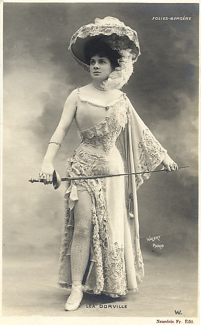 1905 Folies Bergere Fencing Actress | Flickr - Photo Sharing!