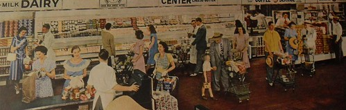 1940s vintage supermarket A & P advertisement interior photo