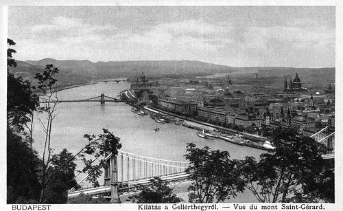 Old postcards of Budapest – View from the Saint Gerard Mountain