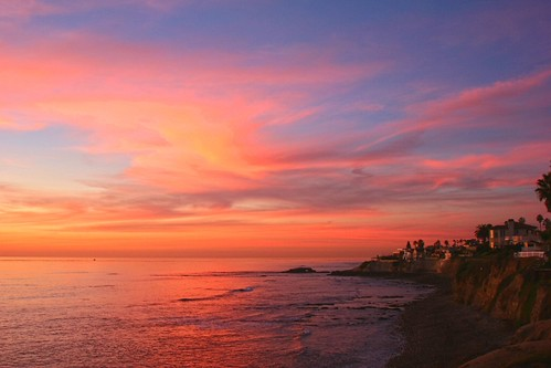 sunset sky seascape clouds bravo waves lajolla pachelbelcanon goldpawaward