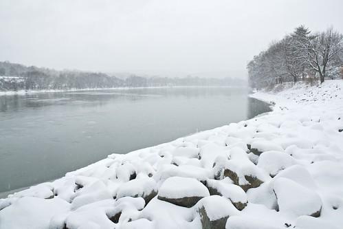 snow river rocks d70 hyperfocal 1870mm susquehanna