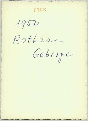 Reverse of 1952 Rothaar-Gebirge