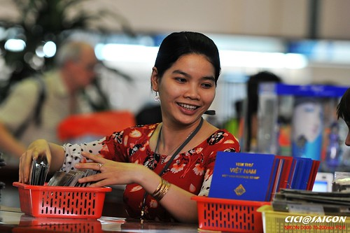 Girls in Saigon Post Office by Cici Chen