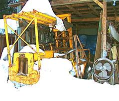 Clark Forklift Buried