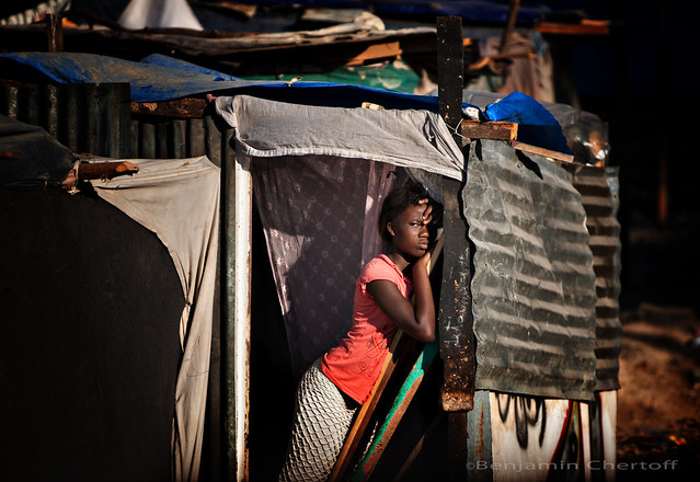 Woman in Tent City, Haiti, January 2010