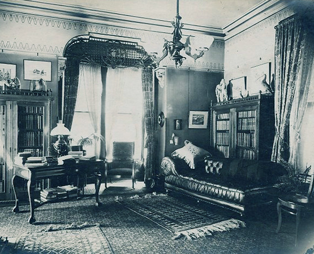 Victorian parlor  1890's