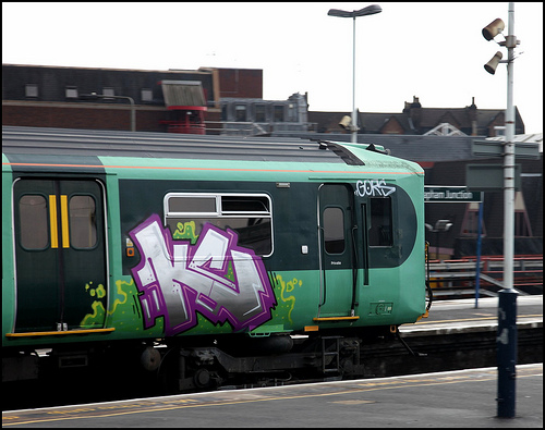 Southern Trains graffiti runner