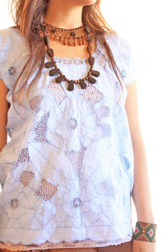Eyelet Mexican blouse