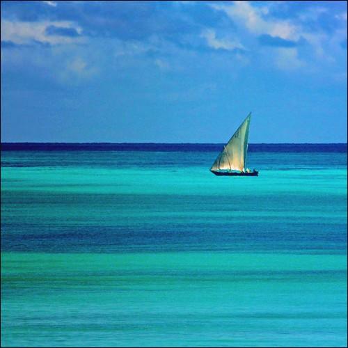 blue sea sky water colors island boat paradise zanzibar indic anawesomeshot superaplus aplusphoto platinumheartaward artofimages bestcapturesaoi bestofmywinners mygearandme