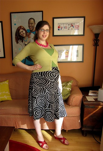 Spiral Skirt: Front View (showing waistband)