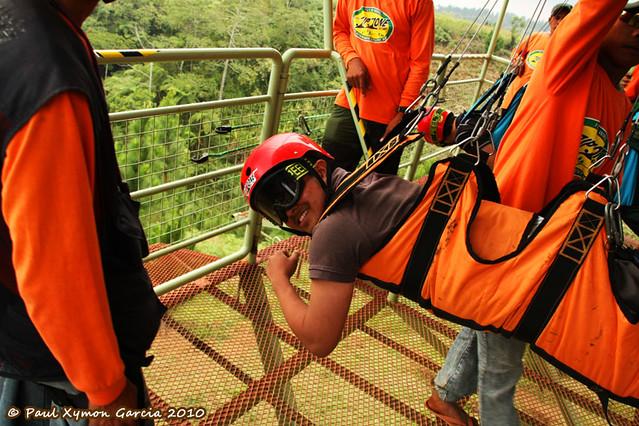 Zip Lining at Dahilayan