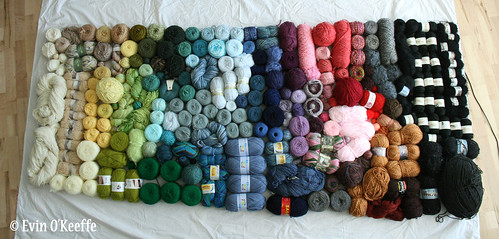 Knitter's Eye View of My Entire Yarn Stash
