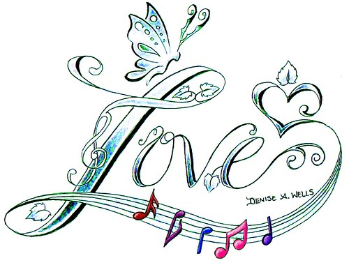 Love Song Tattoo Design