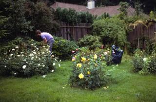 Hanne in the garden, 1980