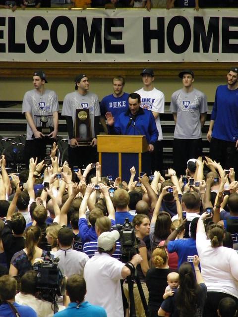 Duke university ncaa men s basketball championship celebration april