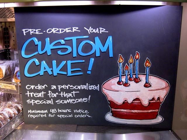 Custom Whole Foods Cake
