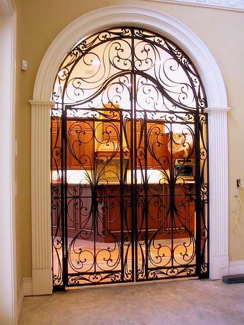 Wrought iron fence door gate flickr photo sharing for Door to gate telefonnummer
