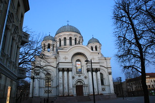 Imageof St. Michael the Archangel Church. lithuania kaunas