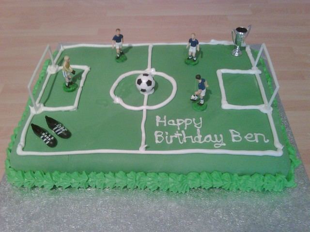 Cake Decorated Like A Football Field : Football Pitch Cake Flickr - Photo Sharing!