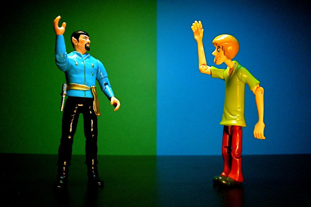 Mirror Spock vs. Shaggy (128/365)