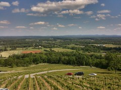 View from the deck at Bluemont Vineyard