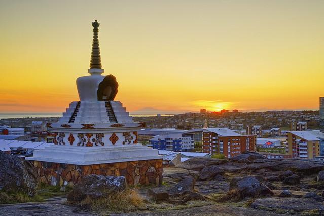 Evening Light on the Stupa