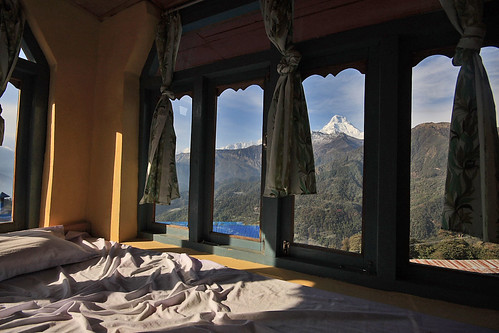 Annapurna seen from the guesthouse