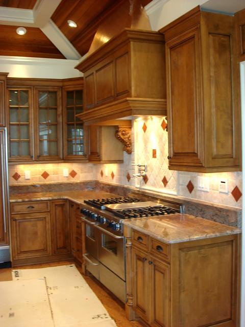 kitchen backsplash with copper inserts flickr photo