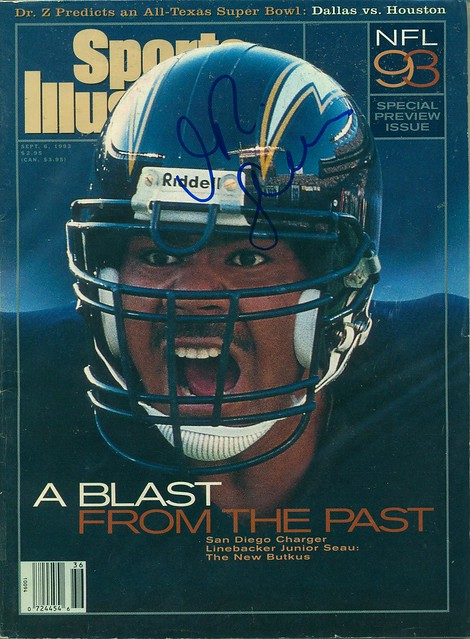 September 6, 1993, Autographed Sports Illustrated by Junior Seau