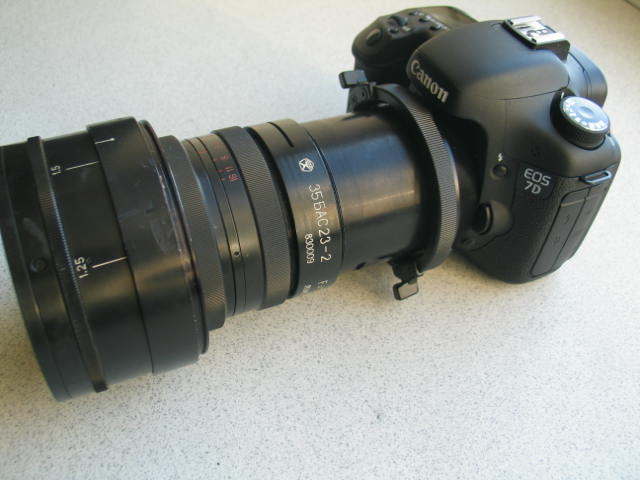 Canon 7D - OCT-19 mount - camera with lenses
