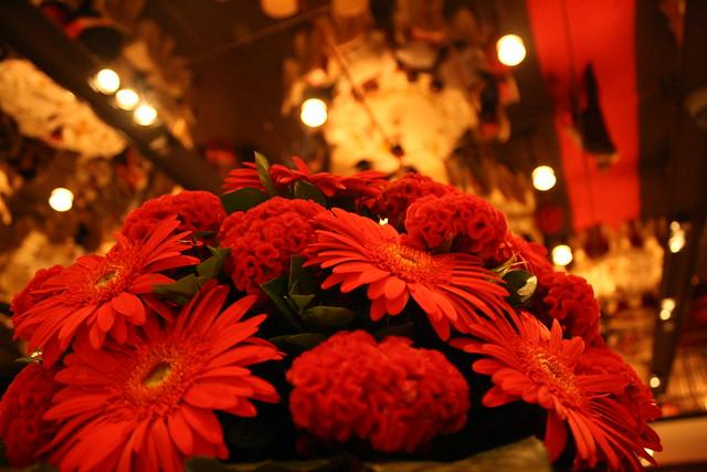 鮮花跟天花板