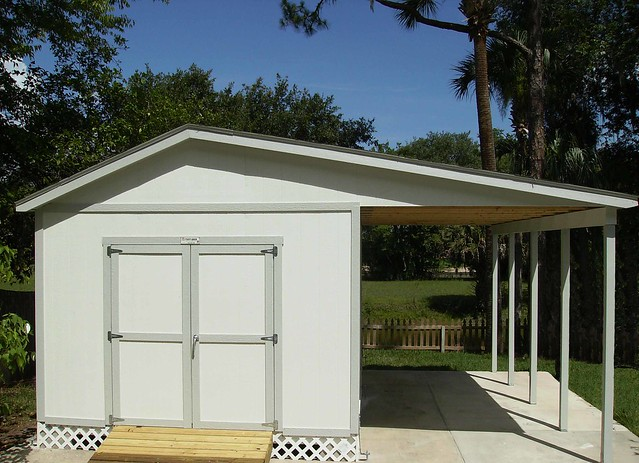Carport With Side Shed : Pro tall ranch w carport on side flickr photo