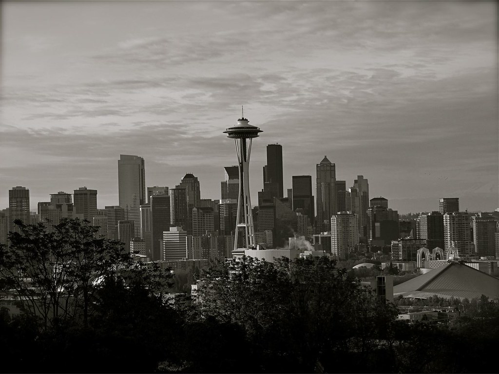 Kerry Park overlook B&W