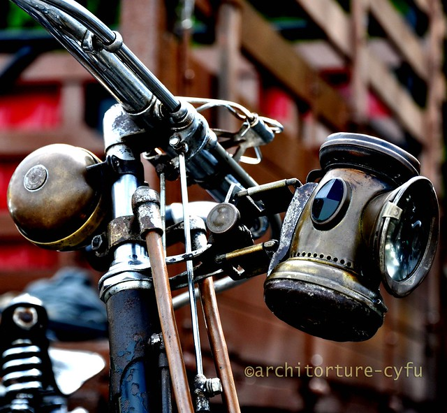 Antique Bicycle Carbide Head Lamp Flickr Photo Sharing