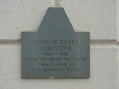 Photo of William Ewart Gladstone stone plaque