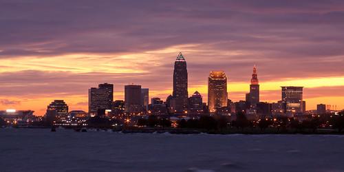 Sunrise over Cleveland Ohio