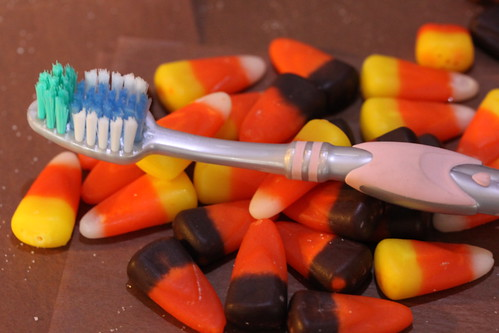 Toothbrush Among the Candy Corn 82/100