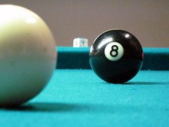 recreation(0.0), cue stick(0.0), games(0.0), carom billiards(0.0), indoor games and sports(1.0), sports(1.0), nine-ball(1.0), pool(1.0), billiard ball(1.0), eight ball(1.0), english billiards(1.0), ball(1.0), cue sports(1.0),