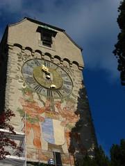 Battlements clock