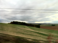 South France countryside from TGV