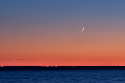 sunset potomacriver moonscape southernmaryland waxingcrescent stmaryscounty stgeorgesisland