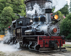 Steaming Locomotive at Roaring Camp and Big Trees Railroad