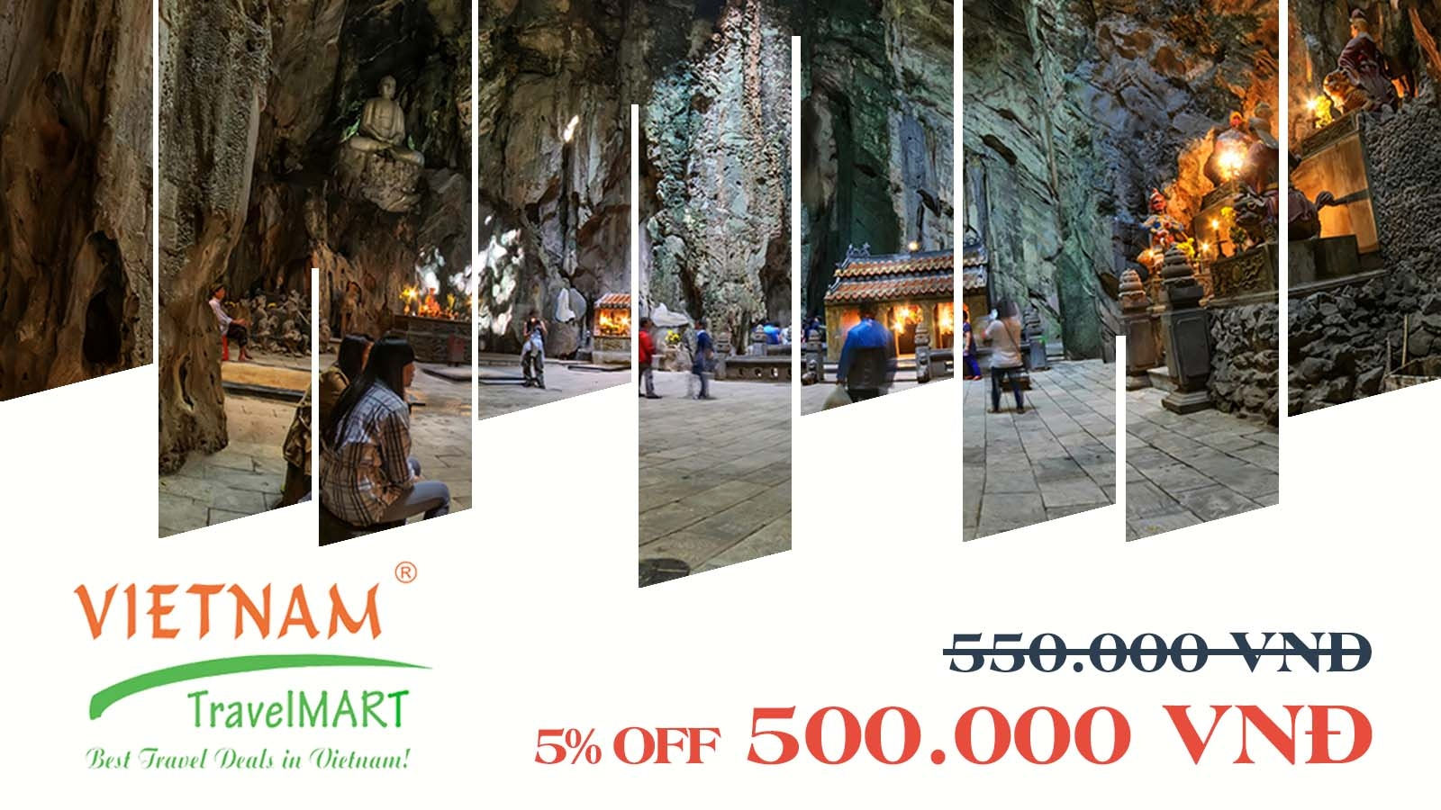 Vietnam TravelMART JSC | 5% off Marble Mountain - Hoi An Ancient Town daily tour